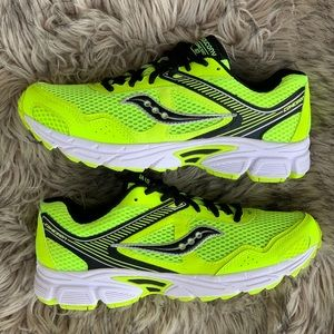 Saucony cohesion 10 neon volt yellow green running